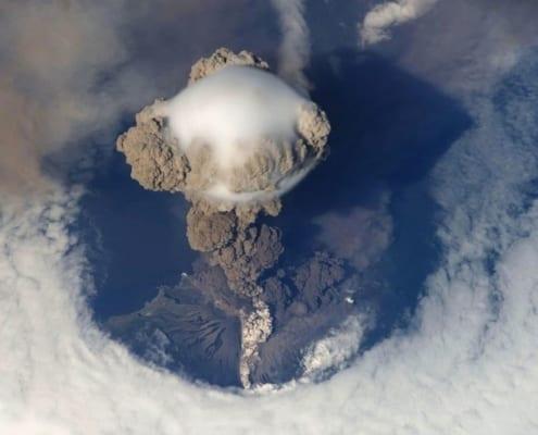 ceniza volcánica contaminación de so2